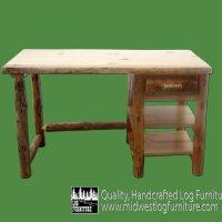 Rustic Log Desk