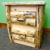 Pine Log Nightstand