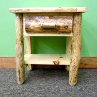 Rustic Pine Nightstand