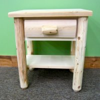 White Cedar Nightstand with a Drawer