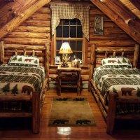 Log bed headboards