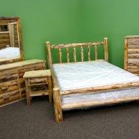 Pine Log Bed