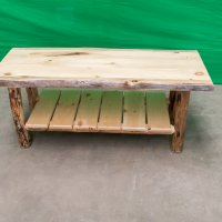 Pine Log Coffee Table