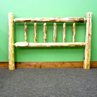 Pine Log Headboard