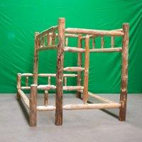 Rustic Pine Log Bunk Beds