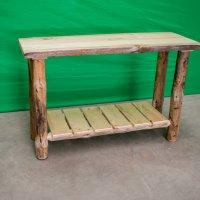 Pine Log Sofa Table
