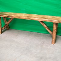 Rustic Log Bence