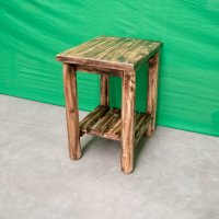 Log Sofa End Table