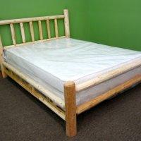 northern white cedar log bed
