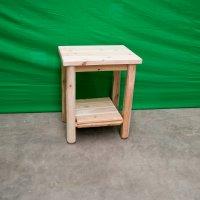 Log Sofa End Table