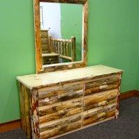 Rustic Drawers & Mirror