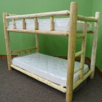 Small Log Bunk Bed