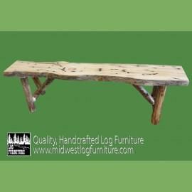 Pine Log Bench