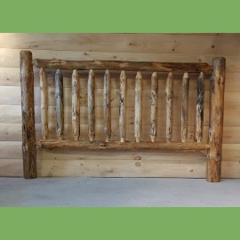Pine Log Railing and Post
