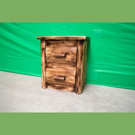 2 Drawer Log Nightstand