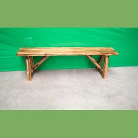 Cedar Log Bench