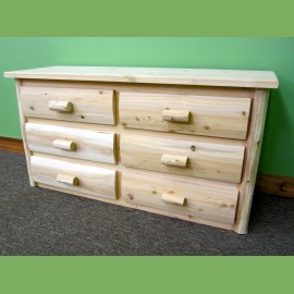6 Drawer Log Dresser