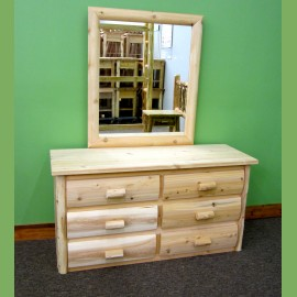 Log Dresser with Mirror