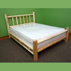 northern white cedar log bed