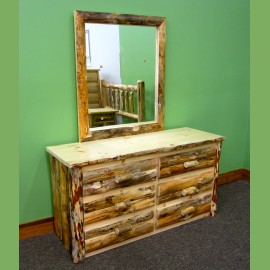 Rustic Drawers & Mirror