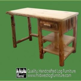 Cedar Log Desk