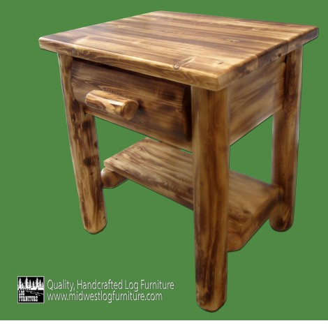 Log Nightstand