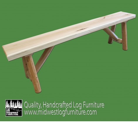 Outstanding Northern White Cedar Log Bench 5Ft Machost Co Dining Chair Design Ideas Machostcouk