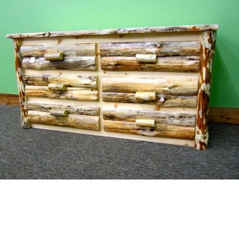 6 Drawer Log Dresser