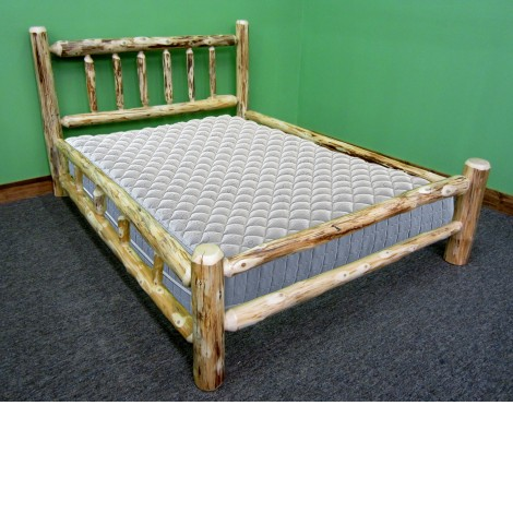 Northern Rustic Pine Log Bed