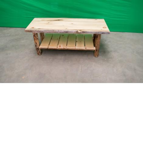 Pine Log Coffee Table