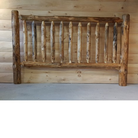 Pine Log Railing and Post