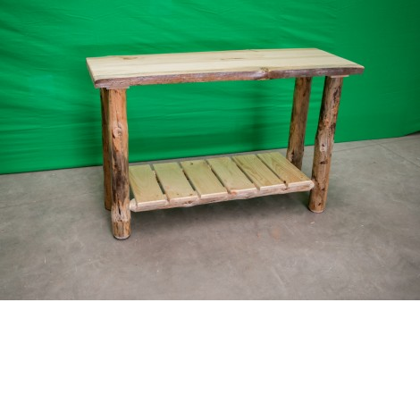 Pine Log Sofa Table