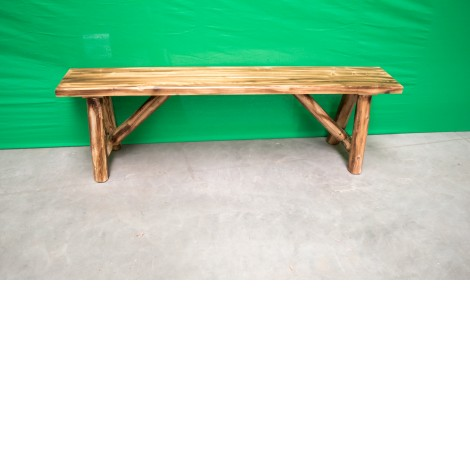 Stupendous Northern Torched Cedar Log Bench Machost Co Dining Chair Design Ideas Machostcouk
