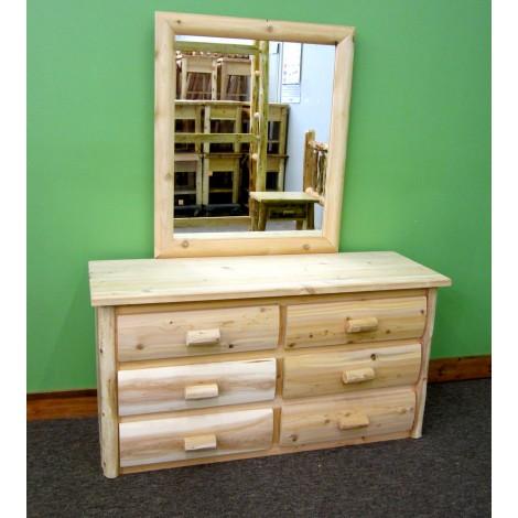 Log Dresser with Mirror