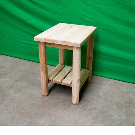 Fantastic Northern White Cedar Log Sofa End Table Alphanode Cool Chair Designs And Ideas Alphanodeonline