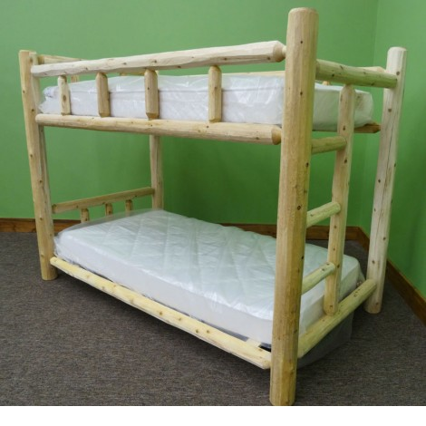 Small Log Bunk Bed