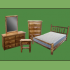 6 Drawer Log Dresser w/ Mirror